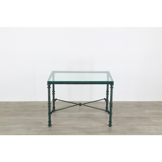 Metal Diego Giacometti Style Iron Side Table, Metal Side Table For Sale - Image 7 of 7