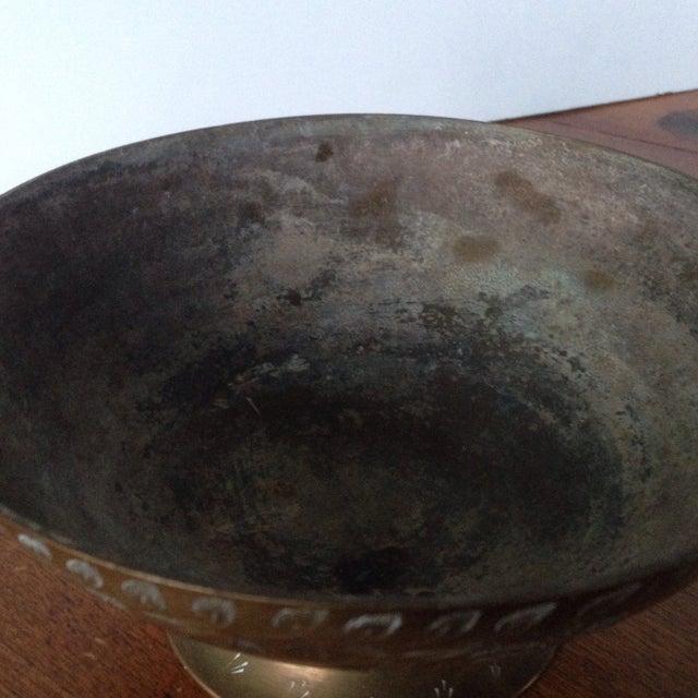Vintage Etched Brass Bowl - Image 7 of 11