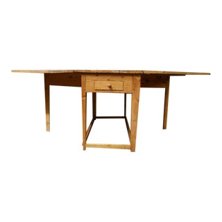 1880s Swedish Pine Drop-Leaf Table For Sale