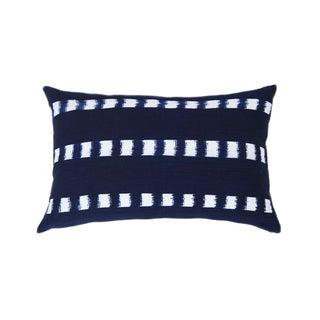 Handwoven Guatemalan Striped Indigo Pillow