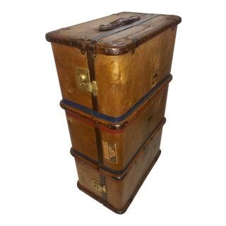 Vintage English Trunk Brass Hardware
