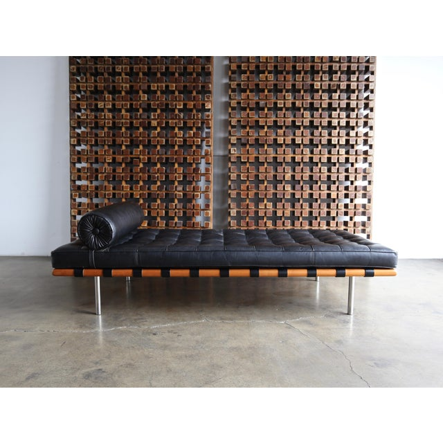 Mies Van Der Rohe Leather & Walnut Daybed for Knoll, 1983 For Sale - Image 11 of 11