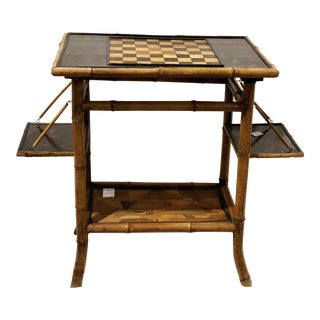 20th Century Victorian Japanese Style Bamboo Game Table