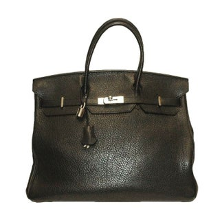 Hermes 40 cm Black Togo Birkin Bag For Sale
