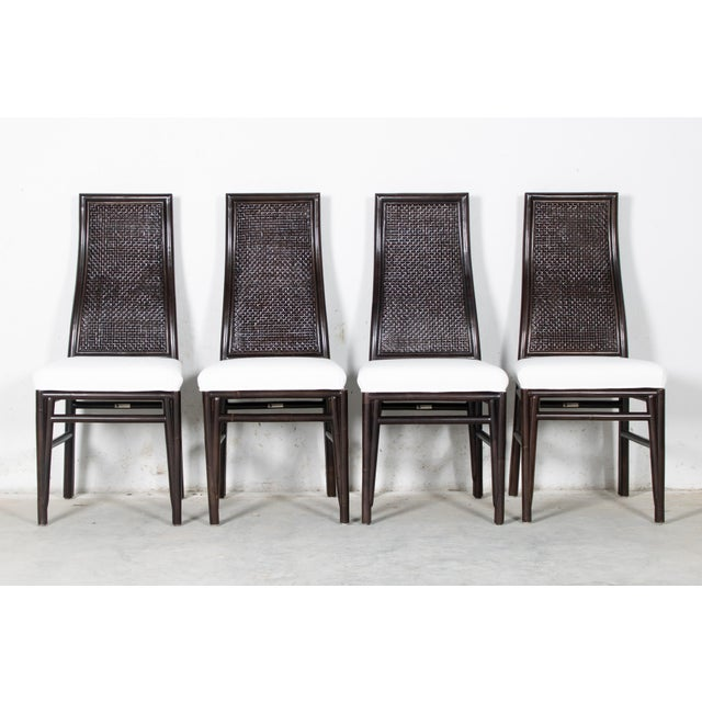 Wood David Francis Kenya Dining Side Chairs- Set of 4 For Sale - Image 7 of 7