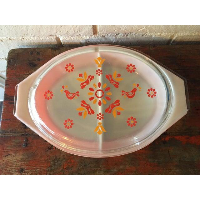Vintage Pyrex Friendship Divided Casserole Dish - Image 3 of 11