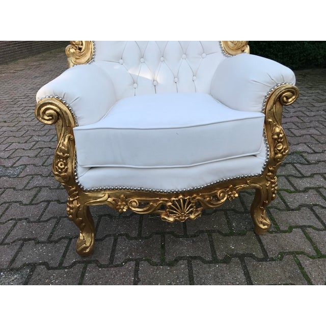 1940s 1940's Italian Rococo Living Room Set- 3 Pieces For Sale - Image 5 of 12