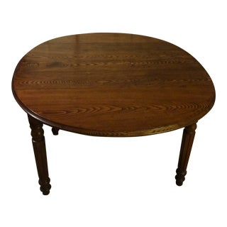 Antique Chestnut Table With Two Drop Leaves For Sale