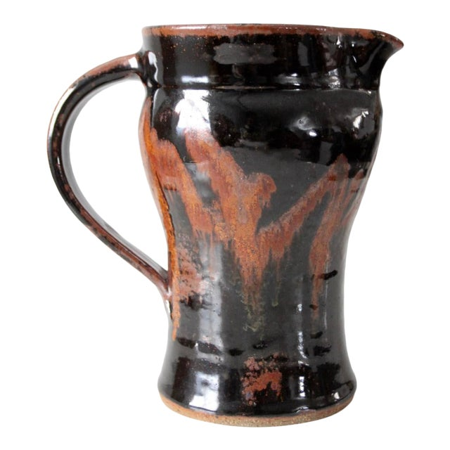 Late 20th Century Vintage Studio Pottery Pitcher For Sale