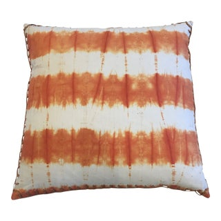Jamie Young Tie Dye Pillow Orange For Sale