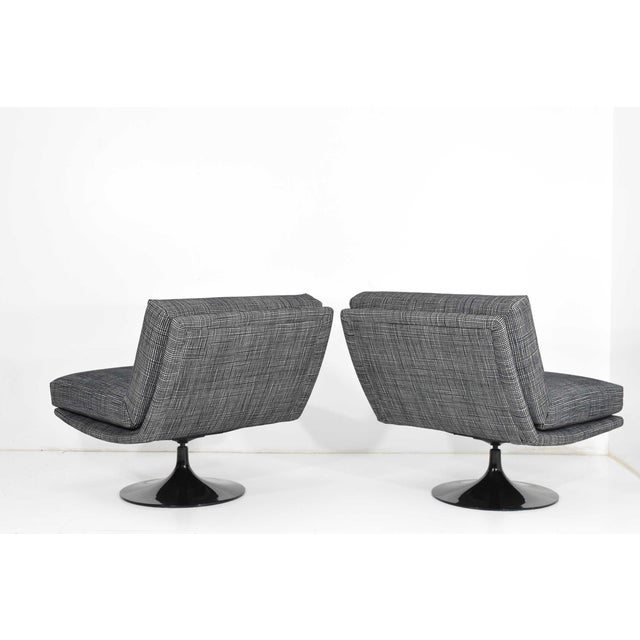 1970s Adrian Pearsall for Craft Associates Swivel Chairs For Sale - Image 5 of 10
