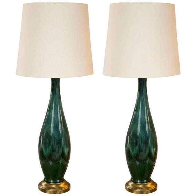Mid-Century Ceramic Lamps - a Pair - Image 1 of 5