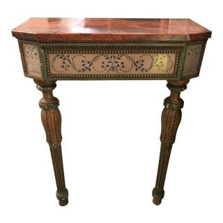 19th Century Louis XVI Marble Top Console For Sale