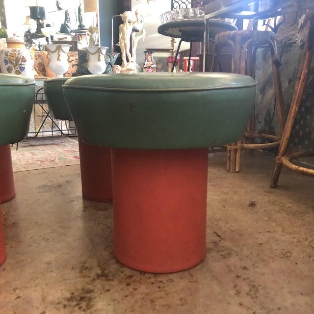 Mid-Century Modern Mid-Century Danish Mushroom Stools - Set of 4 For Sale - Image 3 of 12