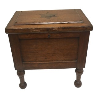 19th Century Miniature Inlaid Blanket Chest For Sale