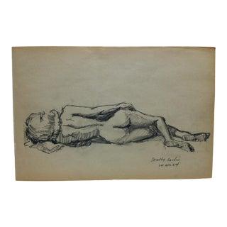 """1964 Vintage """"Dorothy Gardin"""" Tom Sturges Jr. Drawing For Sale"""