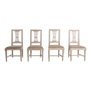 19th Century Swedish Gustavian Period Chairs in Original Paint - Set of 4 For Sale