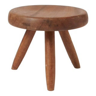 Mahogany Low Stool by Charlotte Perriand For Sale