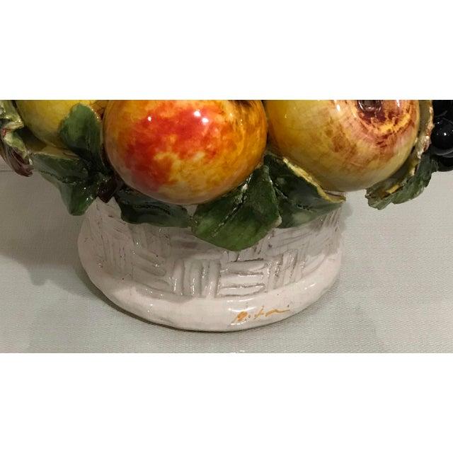 Mid-Century Large Italian Majolica Ceramic Fruit Centerpiece For Sale In Los Angeles - Image 6 of 7