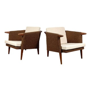 1950s Vintage Bent Moller Jepson Teak Lounge Chairs- A Pair For Sale