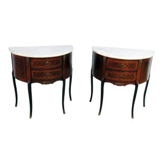20th Century Louis XVI Style Wood End Tables - a Pair