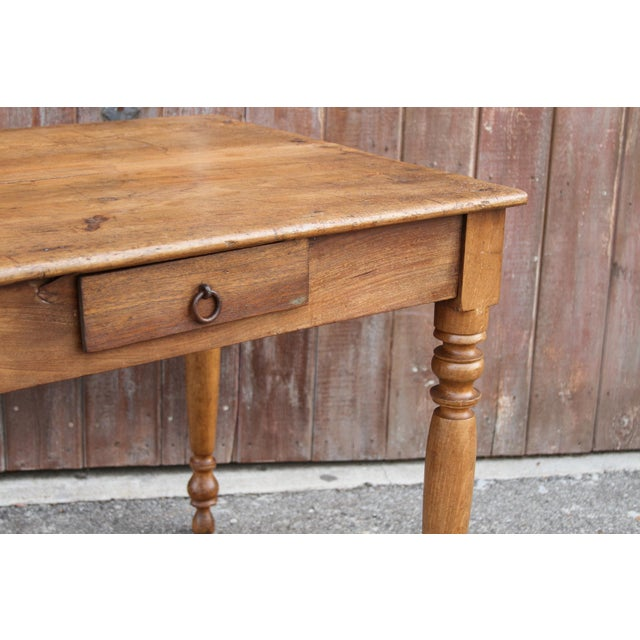 Rustic Farmhouse Kitchen Table For Sale - Image 9 of 10