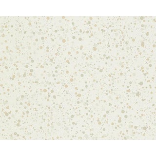 Hinson for the House of Scalamandre Spatter Wallpaper in Beige on White For Sale