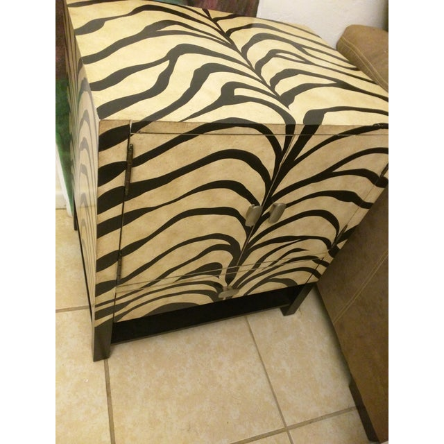 Zebra Print Side Tables - A Pair - Image 3 of 5