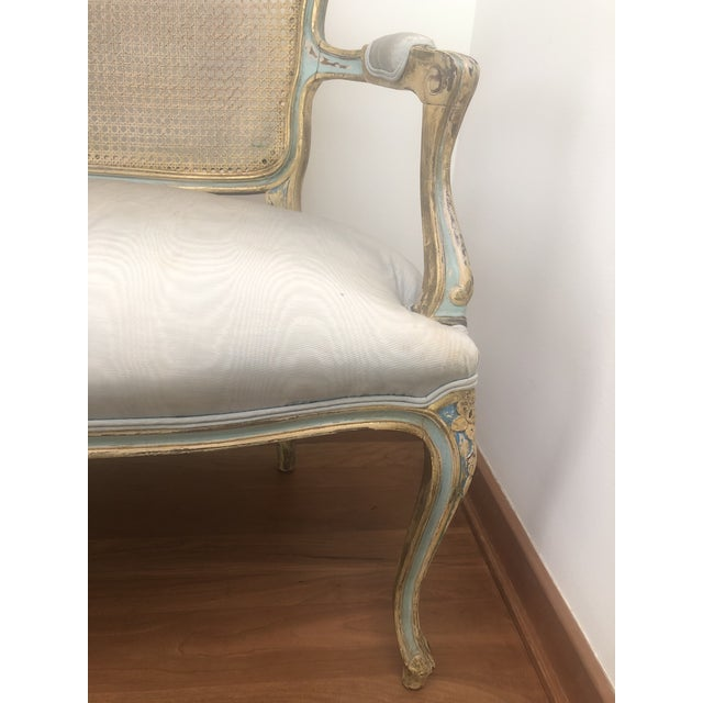 French Circa 1920 Louis XV Style Settee For Sale - Image 4 of 8