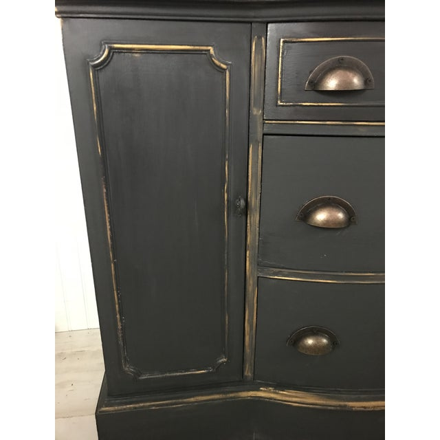 Duncan Phyfe Gray and Gold China Cabinet - Image 6 of 8