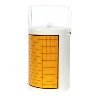 1970s White & Yellow Ice Bucket For Sale
