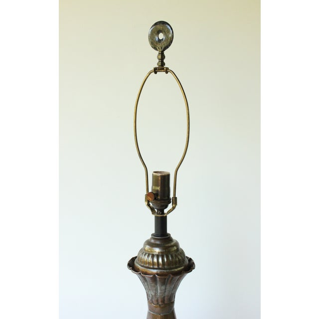 Tinned Copper Table Lamp - Image 4 of 6