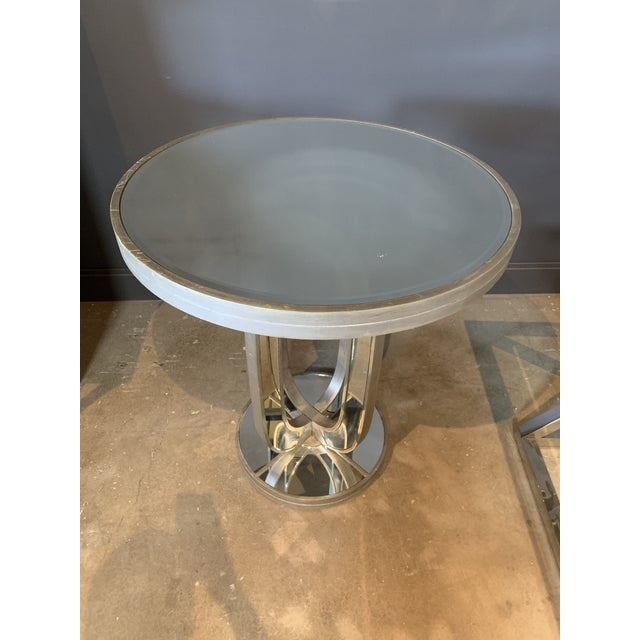 Hollywood Regency Hollywood Regency Round Mirror Table For Sale - Image 3 of 4