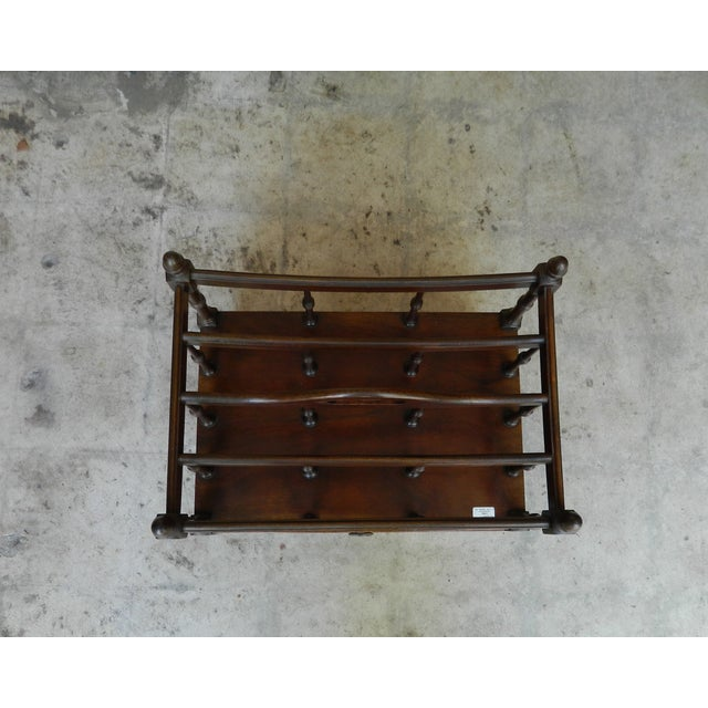 Antique Mahogany Canterbury Rack For Sale - Image 5 of 7