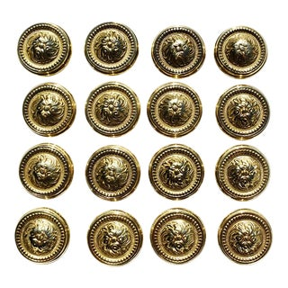 Sherle Wagner Round Gold Beaded Rococo Cabinet Drawer Knobs - Set of 16 For Sale