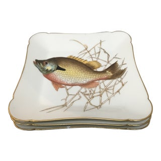 Late 19th Century Ch Field Haviland Limoges Square Fish Dishes - Set of 3 For Sale