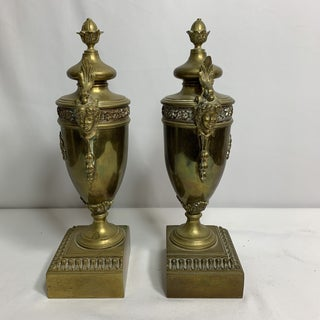 1940s Vintage Brass Urn Bookends - a Pair Preview