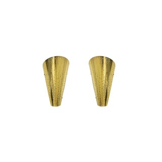 Modern Wall Golden Wall Sconces - a Pair For Sale