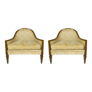 Pair of French, 1950s Rounded Armchairs