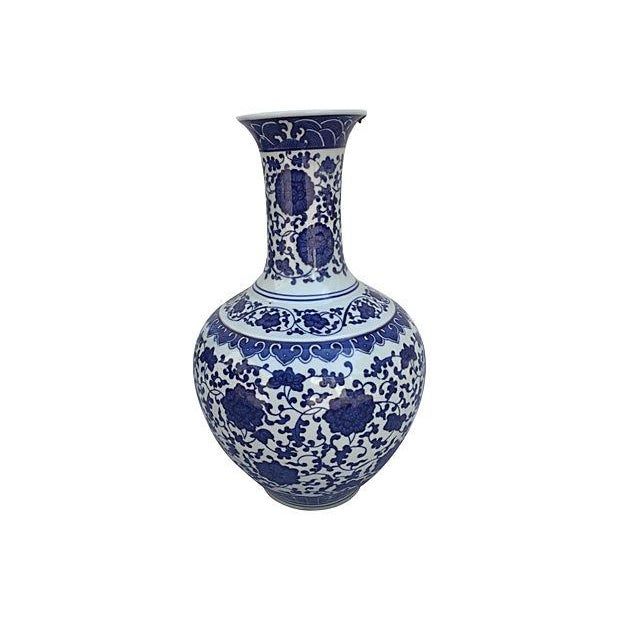 Blue & White Asian Porcelain Vase - Image 2 of 6