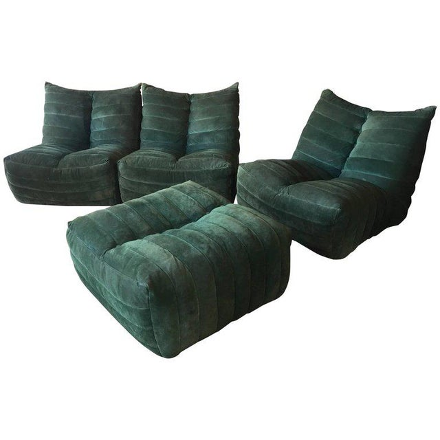 """Modular Green Sectional Sofa """"Giannone"""" by Arch. G.Grignani for 7Salotti, Italy For Sale - Image 9 of 9"""