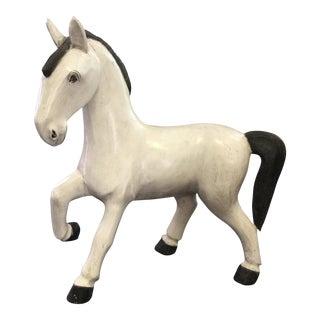 1980s Americana Wooden Horse Figurine