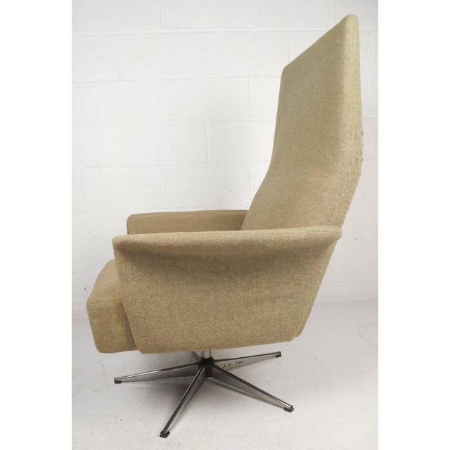 Mid-Century Modern Adjustable Danish Lounge Chair and Ottoman - Image 5 of 11