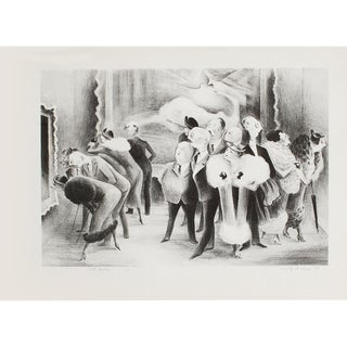 "1939 Adolf Dehn ""Art Lovers"", First Edition Period Lithograph For Sale"