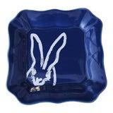 Image of Blue Bunny Portrait Plate, Hunt Slonem For Sale