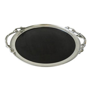 Large Vintage 1960s Serving Tray With Hang Tag by Buehner Wanne For Sale