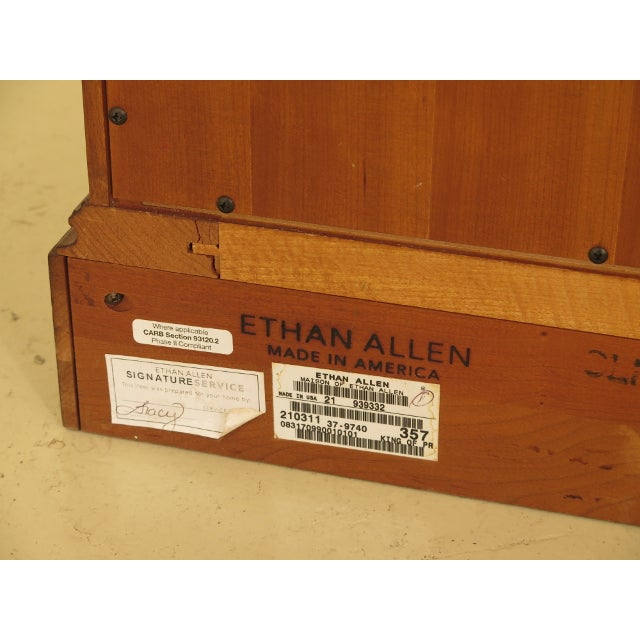 Ethan Allen 2 Door Cherry Media Cabinet Console For Sale - Image 12 of 13