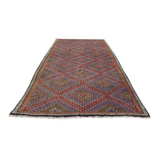 "Turkish Kilim Rug - 6'2"" X 11'9"" For Sale"