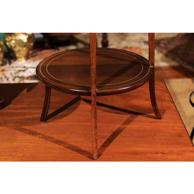 Mahogany Regency Three-Tier Dessert Stand For Sale - Image 7 of 9
