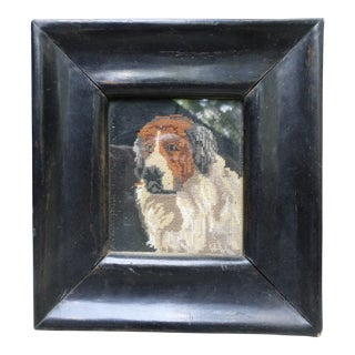 Petit-Point Picture of a St. Bernard